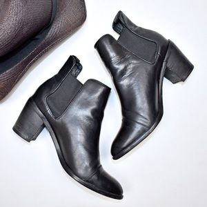 Steven Black Leather Imaginn Chelsea Boots